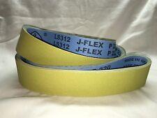 """2""""x72"""" Klingspor LS312 220 Grit Premium Lubed """"J"""" Flex (5pcs)"""