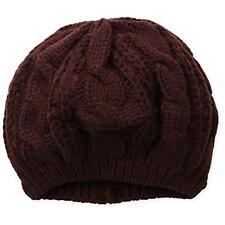 Gabriella 7021 Womens Purple Cable Knit Fashion Hat Beret O/S BHFO