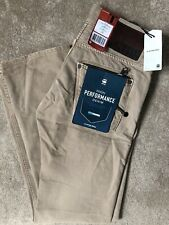 """G-STAR RAW DUNE BROWN """"ATTACC LOW"""" STRAIGHT FIT JEANS - 28"""" x 32"""" - NEW & TAGS"""