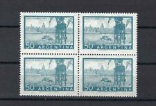Argentina 1959 Sc# 633 litho Buenos Aires Harbor Oil tower Boat block 4 MNH