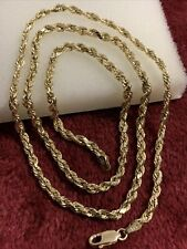 10 kt yellow gold 4.6 Grams rope chain lobster lock scrap or wear 3mm