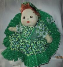 1985 My Child Doll Mattel Inc Red Hair Hazel Eyes St. Patrick's Outfit