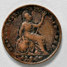 New listing Gb Victoria Copper Farthing 1843 + Nice Grade! + [931-05]