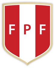 "Peru FPF Perú Federacion peruana de futbol Football Association sticker 4"" x 5"""