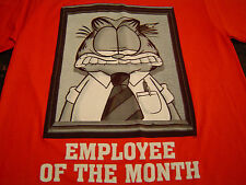 Incredibly Creepy GARFIELD Employee Of The Month T-Shirt Size S/Jim Davis/NEW!