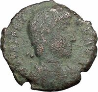 "VALENS ""Last True Roman"" w labarum 367AD Ancient Roman Coin Christ monog  i33365"