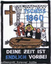 """Anti 1860 Aufnäher """"ENDLICH VORBEI"""" für die Fan Kutte"""