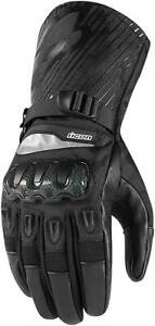 Icon Patrol Gloves - Motorcycle Street Riding Textile Leather Waterproof Mens