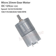 Dc 6v 9v 12v Slow Speed Micro Mini 25mm Metal Gearbox Gear Motor Large Torque