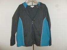 Fashion Bug plus size 22 / 24 blue gray 2 pocket light stretch fitness hoodie