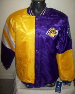 LOS ANGELES LAKERS  STARTER Snap Down 50/50 Jacket RARE Fall 2021  S M L XL 2X