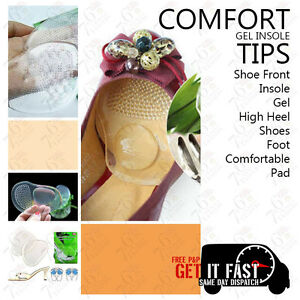 INSOLE GEL FRONT PAIR FOR LADIES FOOT HIGH HEEL SHOES COMFORTABLE GEL INSOLE PAD