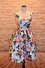 Modcloth Night Shining Ardor Dress NWT 2 Chi chi off shoulder Fit & Flare Floral
