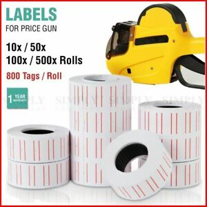 Price Tag Gun Labels Tags Rolls Sticker Pricing Tagging MX5500 800 Labels / Roll