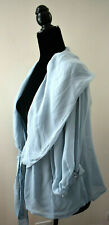 Paola Quadretti Blue Silk Blouse Size 46 Size 8 USA Made in Italy Handmade