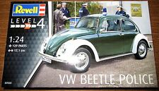 Revell Germany Volkswagen Beetle Police Plastic Model Kit 1/24