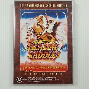 Blazing Saddles DVD - Western - Mel Brooks - Region 4 - TRACKED POST