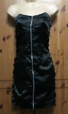 HEAVEN BLACK SLEEVELESS STRAPLESS DRESS WITH ZIP UP FRONT SIZE 12
