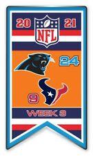 2021 Semaine 3 Bannière Broche NFL Carolina Panthers Vs.Houston Texans Très Bol