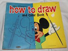 Vintage 1960 Walt Disney'S 1St Ed How To Draw And Color Book Whitman Pub Co Usa