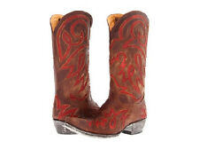 NEW IN BOX OLD GRINGO LAUREN INLAY WOMENS BOOTS BRASS RED SIZE 8