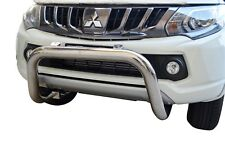 "Bullbar Nudge Bar S/S 304 3"" Bumper Guard for Mitsubishi Triton MQ 15-18 G"