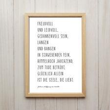 Bild Goethe Zitat Liebe Kunstdruck A4 Literatur Spruch Deko Poster Geschenk