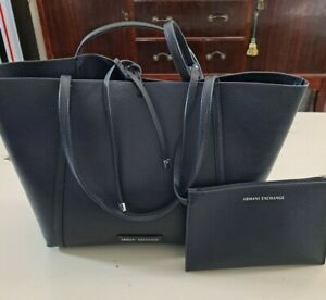 Armani Exhange Reverseable Tote Bag with Wallet Dark Navy Blue