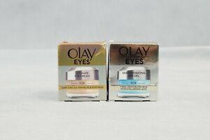 2x Olay Eyes Ultimate Eye Cream & Deep Hydrating Eye Gel 15ml New & Sealed