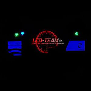 Honda CBR 1100xx Blackbird BJ01-08 Tachobeleuchtung Umbau LED Set BLAU LED-Team