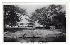 Bala - Muskoka Real Photo Postcard 1955