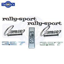 1968 Camaro 327 Rally Sport Emblem Kit 7 Pieces
