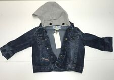 Diesel Baby Boys New JIFELB DENIM JACKET w/ REMOVABLE HOOD  Sz: 6m RTL $131 Q570