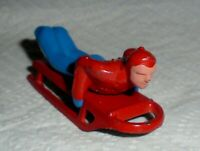 "VINTAGE LEAD RARE BARCLAY ""MAN ON SLED, IN RED & BLUE"" B192 Near Mint F/S Lot B"