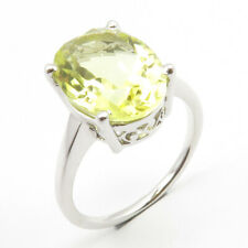 0.925 Stamped Sterling Silver Natural LEMON TOPAZ Stone Size 7.5 Engagement Ring