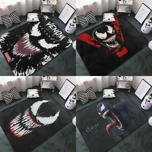 Super Hero Venom Logo Area Rug Living Room Bedroom Flannel Floor Mat Carpet