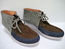 ROBERT CLERGERIE gray brown blue suede ankle boots size 41.5 WORN ONCE