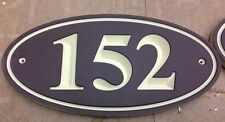 "Oval  Sign  Address Plaque 1/2"" King ColorCore Brown/Tan 11x5.5"""