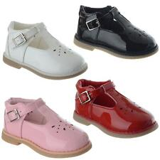 Infants Baby Toddler Girls Patent T Bar Wedding Party Casual Flat Shoes Size