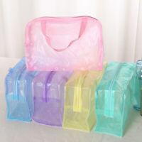 Protable Transparent Waterproof Travel Makeup Bag Toiletry Organizer Storage