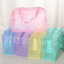 Protable Transparent Waterproof Travel Makeup Bag Toiletry Organizer Storage