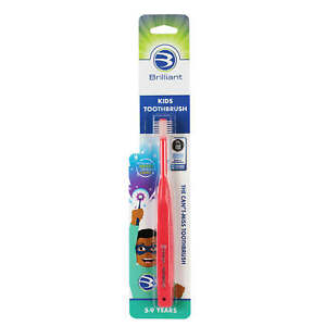 Brilliant Kids Toothbrush for Ages 5-9 Years Round Head Clean All Around Mouth