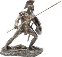 Achilles Grec Mythologie Héros / Guerrier Froid Fonte Bronze Statue 12.5cm/1.5m