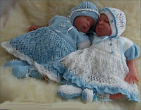BABY KNITTING PATTERNS DK 31 GIRLS OR REBORN DOLLS BY PRECIOUS NEWBORN KNITS