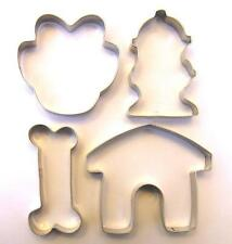 Dog Theme Cookie Cutter Paw Bone House Hydrant Fondant Baking Steel Mold Set
