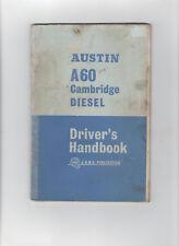 AUSTIN A60 CAMBRIDGE DIESEL DRIVERS HANDBOOK / MANUAL - SALOON & COUNTRYMAN