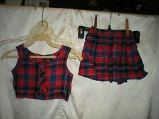 Vintage Skirt And Top For Child Union Made