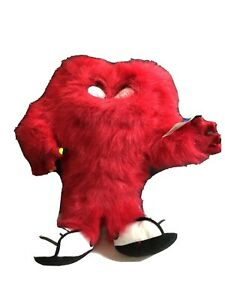 """Applause Looney Tunes 14"""" GOSSAMER Plush Red Stuffed Character Sixflags"""