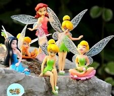TRILLI CAMPANELLINO 6 PERSONAGGI FIGURE Peter Pan Statuette Torta Tinker Bell