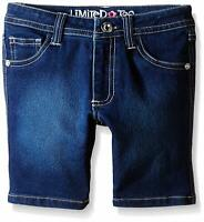 Limited Too Girls' Super Soft Denim Bermuda Short, Blue Wash, 4
